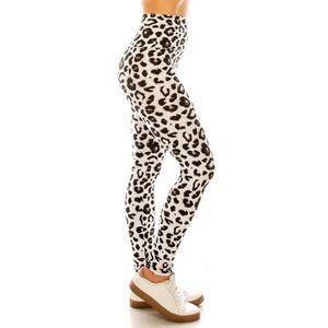 Animal Print Black and White Leggings